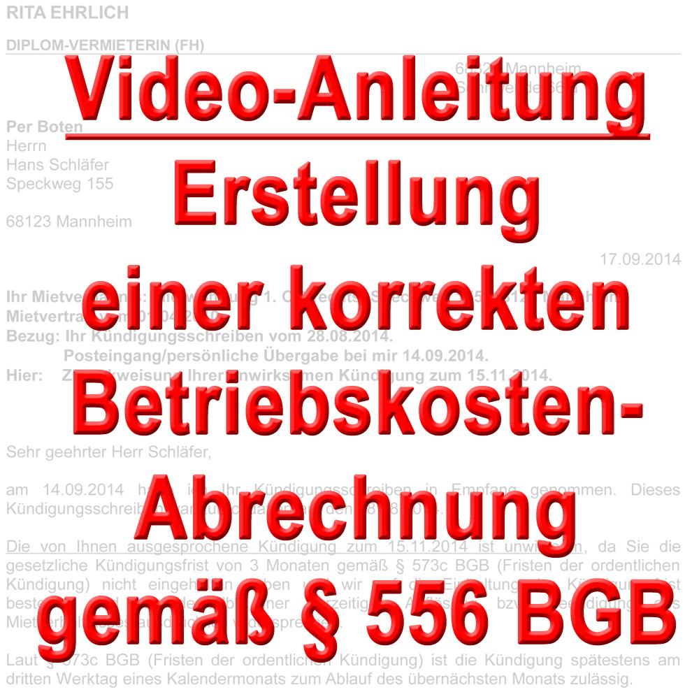 video betriebskosten abrechnung korrekt erstellen nach 556 bgb. Black Bedroom Furniture Sets. Home Design Ideas
