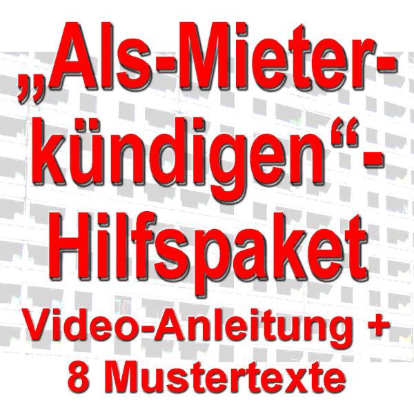 Als Mieter Korrekt Kündigen Hilfspaket Video 8 Mustertexte
