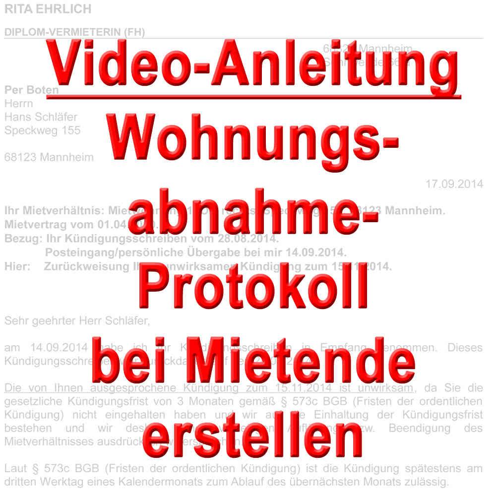 Video Abnahme Protokoll Wohnung Bei Mietende Erstellen