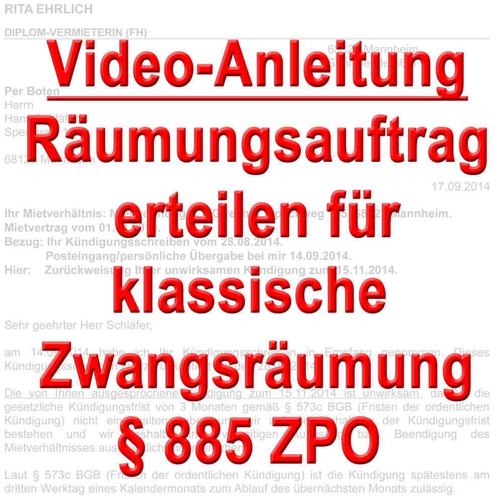 Video Zwangsräumung Wohnung Durch Gerichtsvollzieher Beauftragen