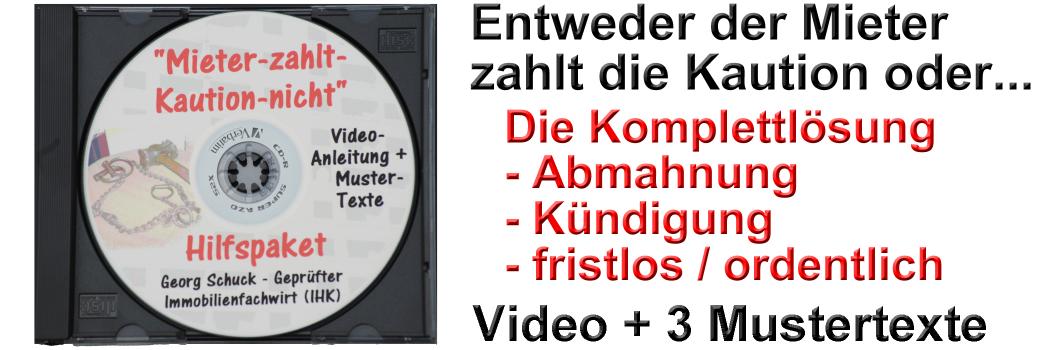 Mieter Zahlt Kaution Nicht Hilfspaket Video Mustertexte