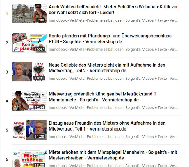 "Youtube-Playlist ""Immobook"" Link-Bild zum Youtube-Kanal Vermietershop.de"